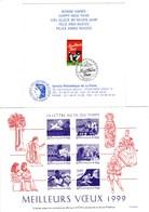 Lot De 4 Cartes De Voeux De La Poste - 1997 - 1999 - 2000 - 2002 - Documents Of Postal Services