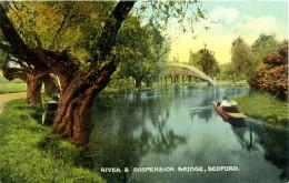 BEDS - BEDFORD - RIVER AND SUSPENSION BRIDGE  Bd280 - Bedford
