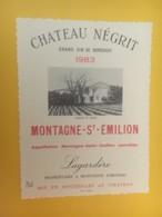 8396 - Château Négrit 1983 Montagne Saint-Emilion - Bordeaux