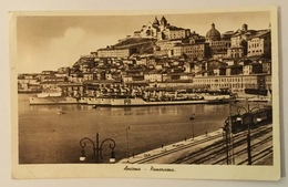 ANCONA - PANORAMA CON NAVI E LOCOMOTIVA 1941 VIAGGIATA FP - Ancona