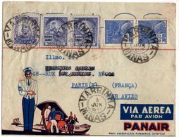 Lettre Par Avion De Varginha (08.06.1937) Pour Paris_Panair_ - Poste Aérienne