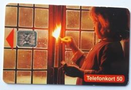 Girl Ligthing A Candle  , Sweden - Sweden