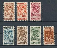 SAAR SARRE 1931 - VOLKHILFE / SECOURS POPULAIRE  N° Yvert 141/147 Neufs Avec Trace De Charnière * MLH Cote / Value 230€ - 1920-35 League Of Nations