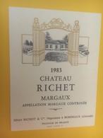 8417 - Château Richet 1983 Margaux - Bordeaux