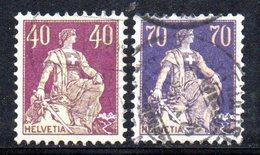 617 490 - SVIZZERA 1924 , Unificato N. 206/207 Usata - Gebruikt