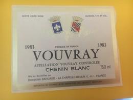 8419 - Vouvray Chenin Blanc 1983 - Etiquettes