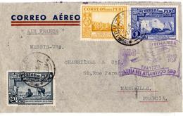 Lettre Par Avion De Iquitos (02.06.1937) Pour Marseille_via Lima_condor Lufthansa - Pérou