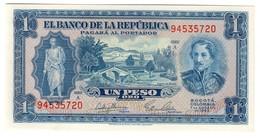 Colombia 1 Peso Oro 07/08/1953 UNC - Colombia