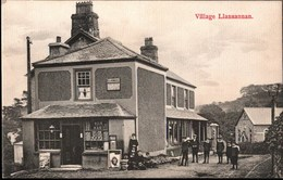 ! Alte Ansichtskarte Post Office Llansannan, Wales - Pays De Galles