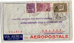 Lettre Par Avion De Rio De Janeiro (18.0.1933) Pour Grasse_Aeropostale - Poste Aérienne