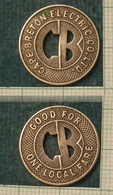 M_p> CURIOSITA' Gettone CAPE BRETON ELECTRIC Co. Ltd ( Periodo 1921 - 1931 ) CANADA - Monetary /of Necessity