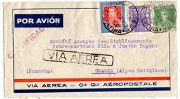 Lettre Recommandée Par Avion De Buenos Aires (28.10.1937) Pour Grasse_Aeropostale - Poste Aérienne