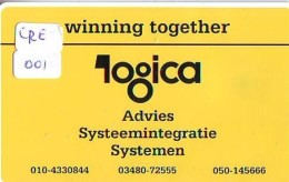 NEDERLAND CHIP TELEFOONKAART CRE 001 * Logica Winning Together * Telecarte A PUCE PAYS-BAS * Niederlande ONGEBRUIKT * MI - Pays-Bas