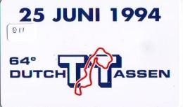 NEDERLAND CHIP TELEFOONKAART CRE 011 * MOTOR RACE * Dutch TT Assen * Telecarte A PUCE PAYS-BAS * NL ONGEBRUIKT * MINT - Nederland
