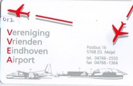 NEDERLAND CHIP TELEFOONKAART CRE 012 * AIRPLANE * AIRPORT EINDHOVEN * Telecarte A PUCE PAYS-BAS * NL ONGEBRUIKT * MINT - Pays-Bas