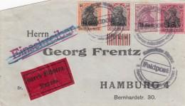 Deutsches Reich Etappengebiet West Eilbrief 1914-18 - Occupation 1914-18