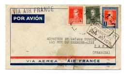Lettre Par Avion De Buenos Aires (XX.03.1935) Pour Paris_Entièrement Transporté Par Avion - Poste Aérienne