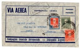 Lettre Par Avion De Buenos Aires (22.09.1934) Pour Paris_Entièrement Transporté Par Avion_Aeropostale - Airmail