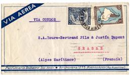 Lettre Par Avion De Buenos Aires (16.12.1936) Pour Grasse_ Condor - Poste Aérienne