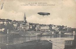 Saint Cloud 95 Dirigeable République Péniche Péniches CM - Saint Cloud