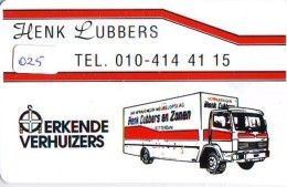 NEDERLAND CHIP TELEFOONKAART CRE 025 * Henk Lubbers Erkende Verhuizers * Telecarte A PUCE PAYS-BAS * ONGEBRUIKT * MINT - Pays-Bas