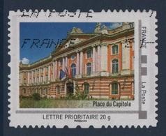 Timbre Personnalise Oblitere - Lettre Prioritaire 20g - Place Du Capitole - France