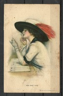 USA 1920ies Post Card Beautiful Lady Make Up Her First Wote Used In Estonia 1922 - Political Parties & Elections
