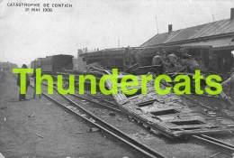 CPA KONTICH CATASTROPHE DE CONTICH 21 MAI 1908 TRAIN CHEMIN DE FER TREIN SPOORWEG - Kontich