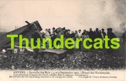 CPA ANTWERPEN ANVERS INCENDIE DES BOIS 1907 BRAND DER HOUTSTAPEL SAPEUR POMPIER BRANDWEER FIRE FIGHTER - Sapeurs-Pompiers