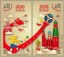 BRAZIL 2018 - Fifa World Cup Russia - Soccer, Football, Matrioska, Moscow Kremlin (MNH) - 2018 – Russie