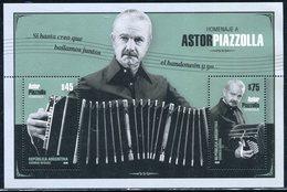Argentina - Hoja Block Homenaje A Astor Piazzolla (emisión Año 2018) - Hojas Bloque
