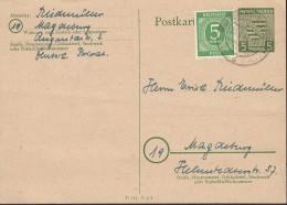 SBZ. Sachsen-Anhalt P 9 + ZFr. 915, Gebraucht, Stempel: Magdeburg 25.3.1946, Landeswappen 1945 - Zona Sovietica