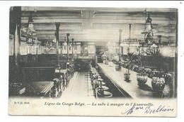 BATEAU / NAVIRE..Ligne Du Congo Belge. La Salle à Manger De L'ANVERSVILLE - Paquebots