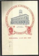 ITALIA ITALY REPUBLIC 2 12 1956 ANNIVERSARIO DELLA REPUBBLICA LIRE 10 CARTOLINA MOSTRA FILATELICA BOPHILEX - 6. 1946-.. Repubblica