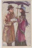 Coppia Sotto Ombrello, Illustratore Luigi BOMPARD - F.p. -  Anni '1910 - Bompard, S.