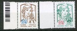FRANCE 2018   Marianne Et La Jeunesse Surchargée 2013 2018 - 2013-... Marianne De Ciappa-Kawena