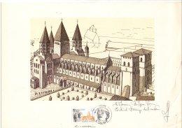 FRANCE - Gravure Dédicacée De L'abbaye De Cluny - Abarten Und Kuriositäten