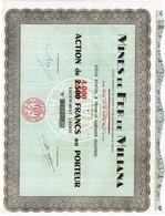 Action Ancienne - Mines De Fer De Miliana - Titre N°007.382 - Afrika
