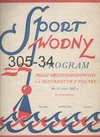SPORT WODNY: Program Regat 1927 - Magazines