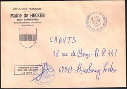 France Burnhaupt Le Haut 1991 / Mairie De Hecken / Coat Of Arms - 1961-....