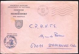 France Hirsingue 1981 / Commune De Heimersdorf / Coat Of Arms / Bee Hive - 1961-....