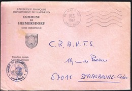 France Hirsingue 1981 / Commune De Heimersdorf / Coat Of Arms / Bee Hive - Postmark Collection (Covers)