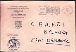 France Hirsingue 1986 / Commune De Heimersdorf / Coat Of Arms / Bee Hive / Village / Machine Stamp - Postmark Collection (Covers)