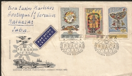 M) 1979, CZECHOSLOVAKIA, AIR MAIL, THE WORLD WINS FROM ZNAMEK POSTS, PRAHA, CIRCULATED COVER FROM,  CZECHOSLOVAKIA, TO C - Czechoslovakia