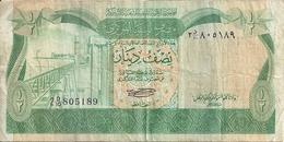 LIBYE 1/2 DINAR ND1981 VF P 43 A - Libya