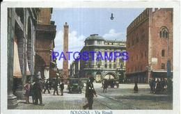 94627 ITALY BOLOGNA EMILIA ROMAÑA STREET RIZZOLI & TRAMWAY POSTAL POSTCARD - Italia