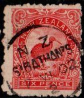 New Zealand 6d, 1899 Perf 11, Nearly Full Cancel Sibathan's - Oblitérés