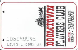Boomtown Biloxi Casino - Biloxi, MS - 2c Issue Slot Card - Check Details On Back Phone#s - Casino Cards