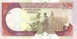 SOMALIA P. R1 20 S 1991 UNC - Somalie