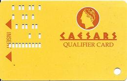 Caesars Casino - Atlantic City, NJ - 1st Issue Slot Card - Missing Front Clear Lamination!   ....[RSC]..... - Casino Cards